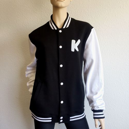 College Jacke - K - black/white