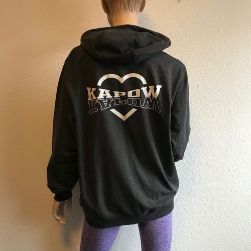 Girl´s Sweat Jacket - KAPOW x 2 - charcoal