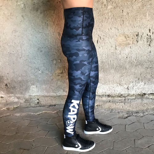 "Functional Power ""HighWaist"" Tights - KAPOW - camo grey"